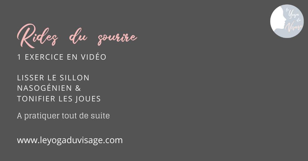 Rides du sourire : 1 exercice en vidéo pour lisser le sillon & tonifier les joues