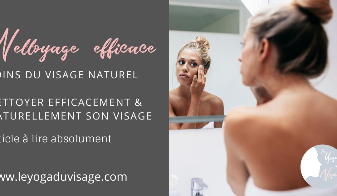 Nettoyage efficace & naturel du visage en moins de 3 minutes
