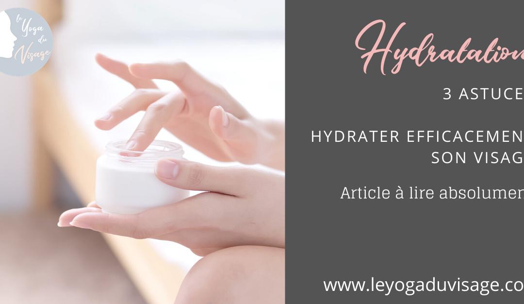 Hydratation efficace du visage