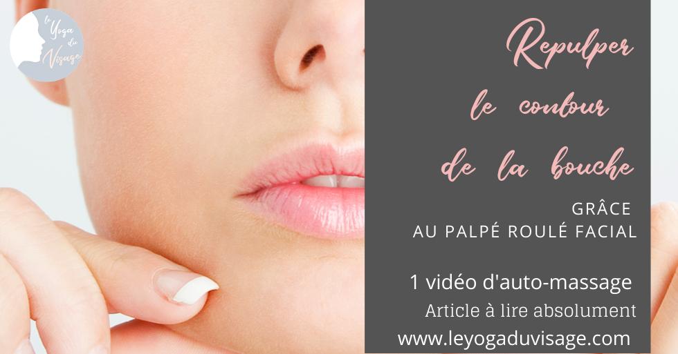 Repulper le contour de la bouche et le sillon nasogénien grâce au palpé roulé facial
